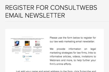 register for consultwebs email newsletter