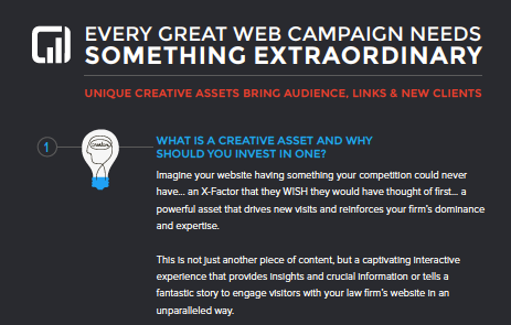 unique creative assets bring audience, links & new clients
