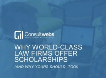 why world-class law firms offer scholarships