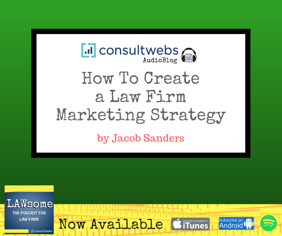 how to create a law firm marketing strategy