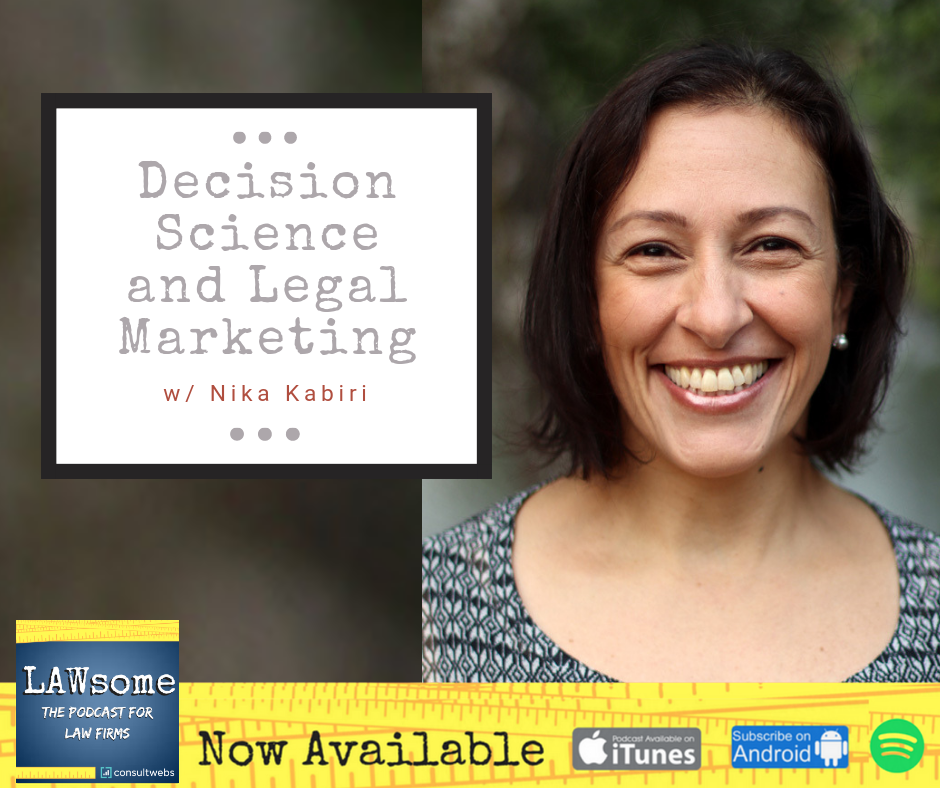 decision science and legal marketing