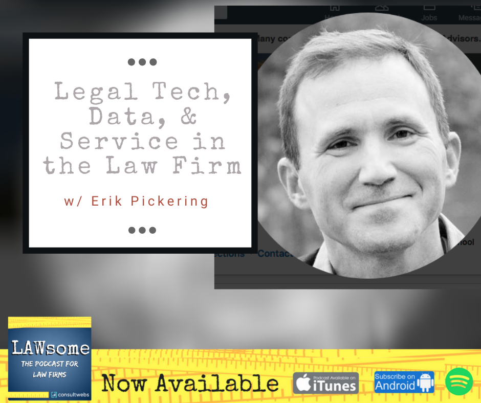 legal tech, data, and service in the law firm