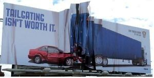 Distracted driver billboard