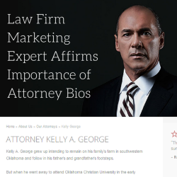 Law Firm Marketing Expert Affirms Importance of Attorney Bios