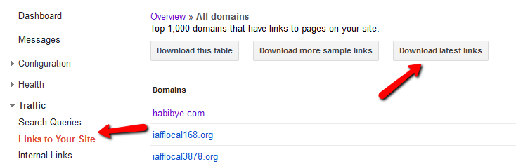 links to your site in google analytics