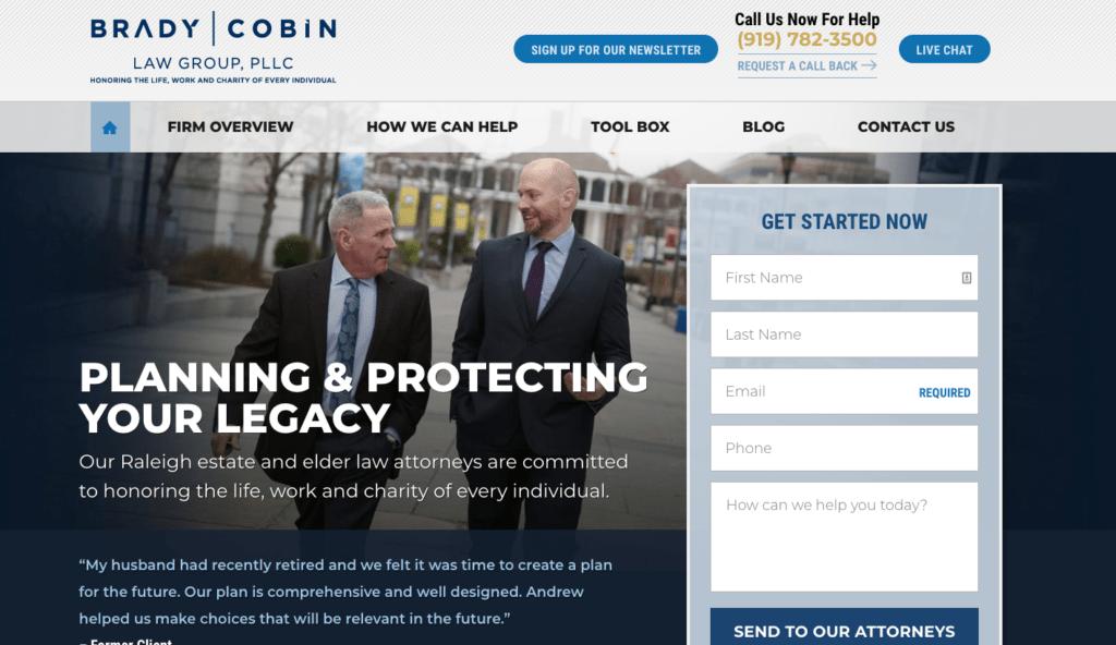 legal website design themes