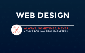 web design tips for law firms