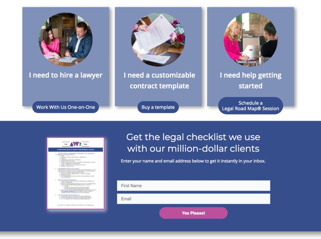 legal checklist form AWB