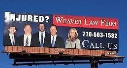 Injury law billboard