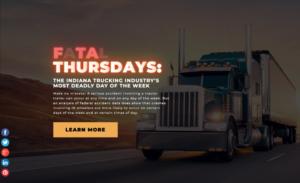 fatal thursdays - truck accident creative asset