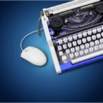 typewriter with mouse